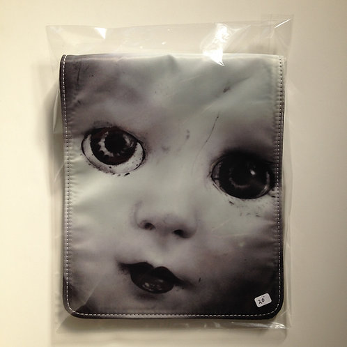 Creepy Baby Doll Flap For Messenger Bag