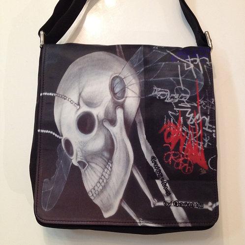 Buggy Skull Miami Graffiti Messenger Bag