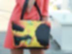 Sunflower art purse  Bag