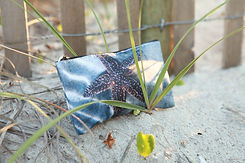 cosmetic bag with starfish