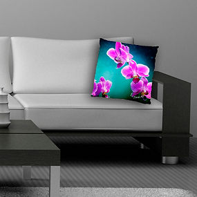 decorative couch candy cushion cover with orchid