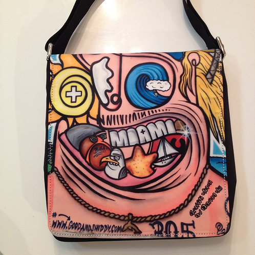 Miami Grin Miami Graffiti Messenger Bag