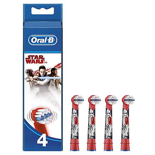 Kids Oral-B Stages Power Star Wars Replacement Heads 4 Pack