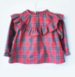 Red tartan plaid pattern