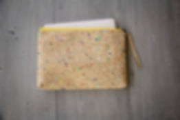 Laptop Case for MacBooks 15-16 inch made from cork with color dots