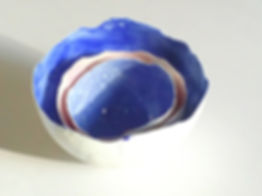 Blue porcelain nesting bowls