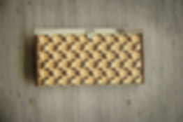 Practical elegant wallet, handmade from colored bamboo fibers
