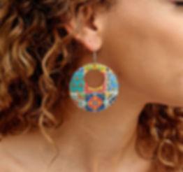 Mexican Tiles Hoop Earrings