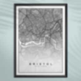 City Map Poster Bristol United Kingdom