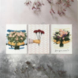 """Send flowers"" Greeting Cards"