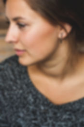 Sterling silver black bar earrings
