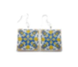 Portuguese antique tile replica earrings