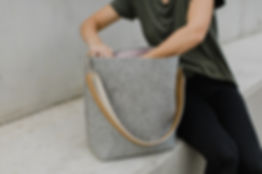 Wool felt minimalistic bag