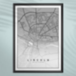 City Map Poster Lincoln United Kingdom