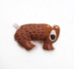 Baby Rattle - Crinkle Brown Bear