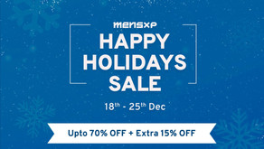 Bring In The Holidays In Style This December With MensXP's Happy Holidays Sale!