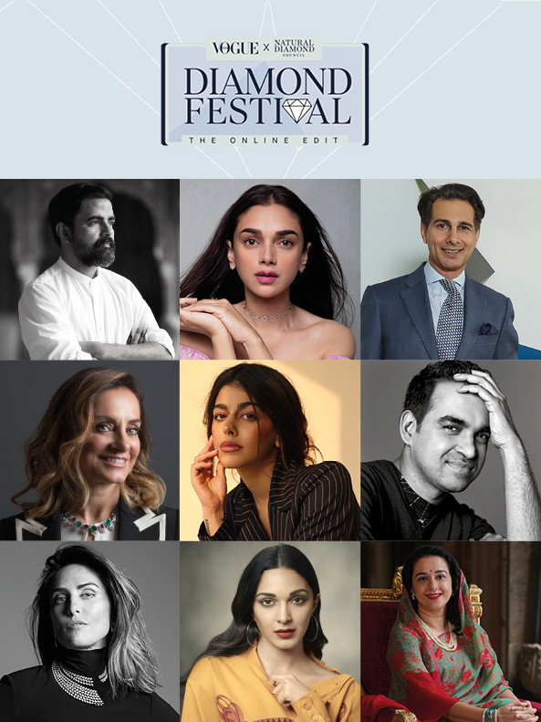 In a first, Vogue India and the Natural Diamond Council come together for an exclusive, online only Diamond Festival