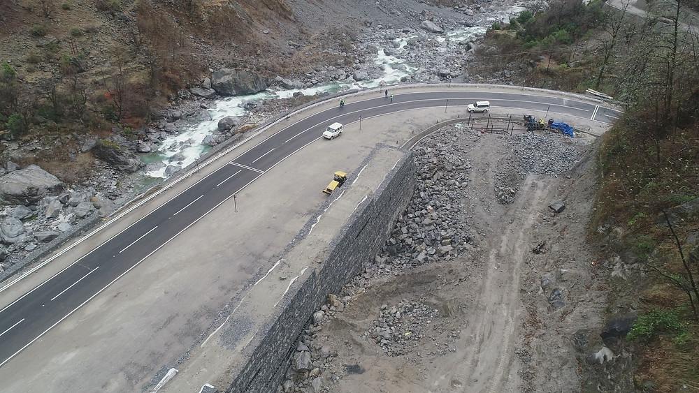 Maccaferri Completes Landslide Mitigation works in the hilly terrains of Lambagarh, Uttarakhand