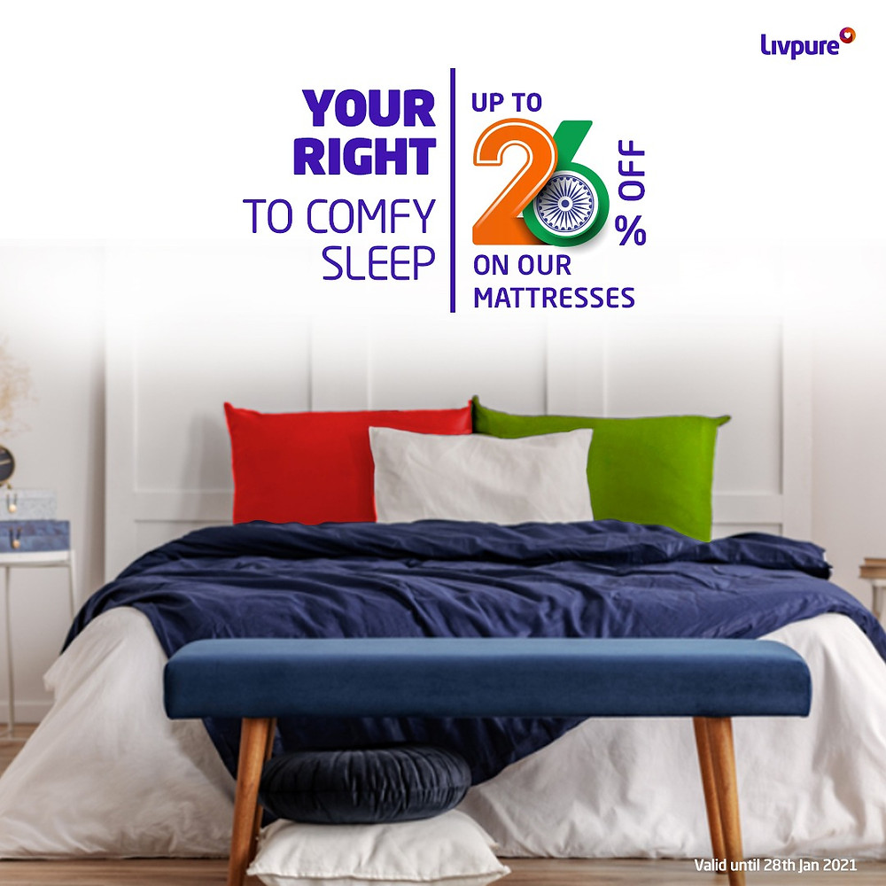 Livpure Republic Day Sale: Up to 26% off on Mattresses, Bedsheets, and Towels