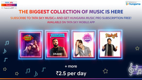 Tata Sky partners with Hungama Music; offers premium music streaming service