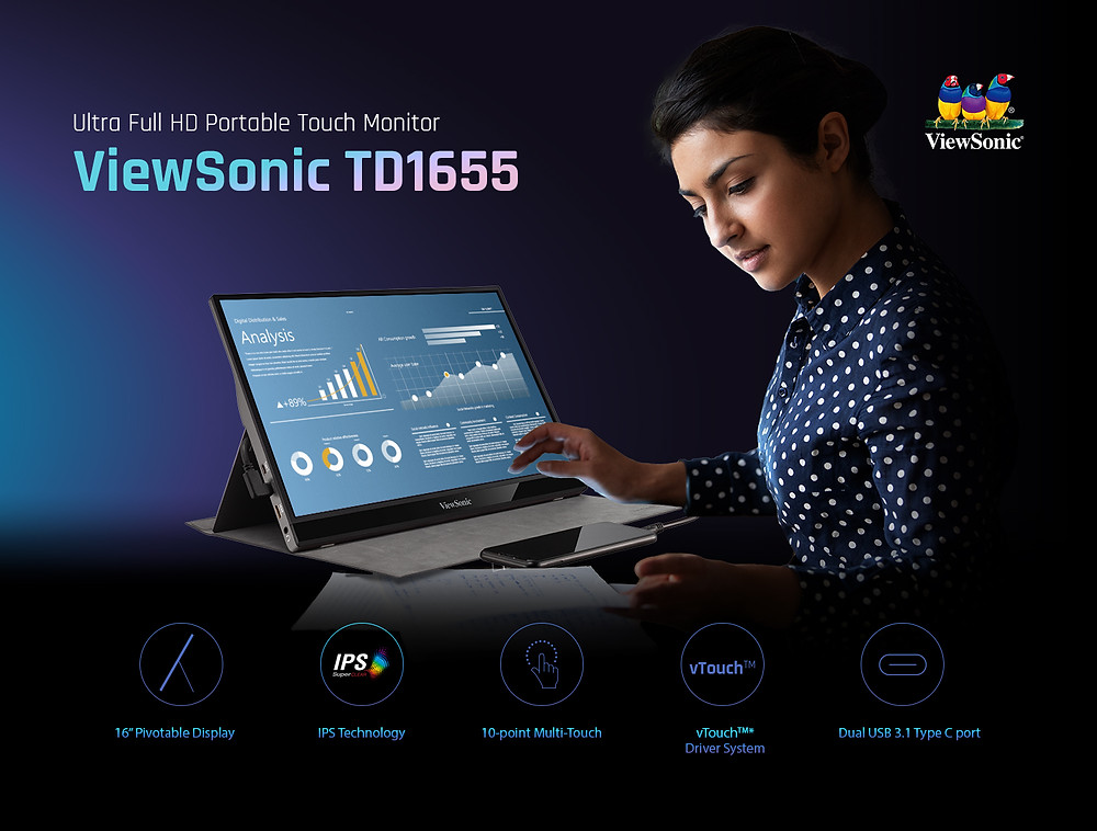ViewSonic Unveils a Stellar New Monitor: Launches TD1655, a Portable Monitor on Amazon
