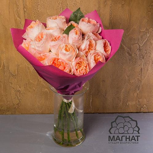 """Букет из 19 пионовидных роз """"Джульетта"""""""