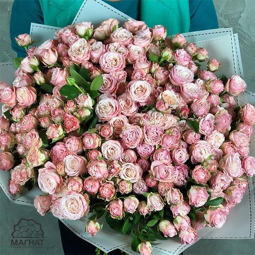 35 кустовых пионовидных роз
