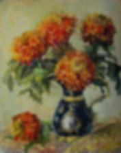 12 Огненные хризантемы, 2013, холст масл