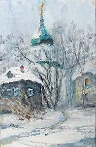 43 Зима в Переславле, 2011, холст масло,
