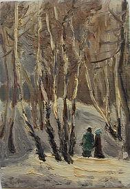 24 Зимняя прогулка (Москва), 1993, карто