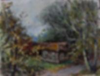 27 Дом на отшибе, 2011, холст масло, 18х