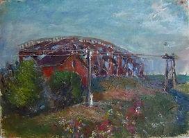 47 Мост через Ранову, 1980, холст масло,