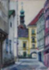 2 Старая Вена, 2016, холст, масло, 35х25