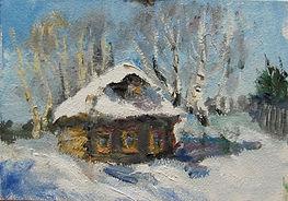 2 Дом соседа (Машино), 2011, картон масл