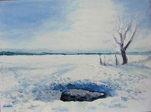 32 Синий камень (Переславль), 2013, холс