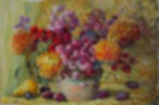 11 Натюрморт со сливами, 2013, холст мас