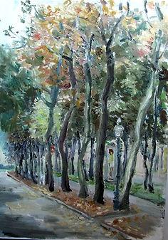8 Деревья на Рингштрассе (Вена), 2015, х