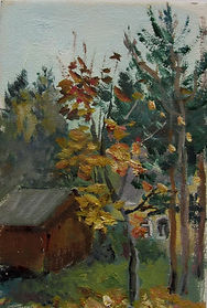 9 Осень в Соснах, 2010, картон масло, 15