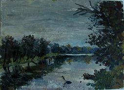 21 Река Клязьма (Мстера), 1993, картон м