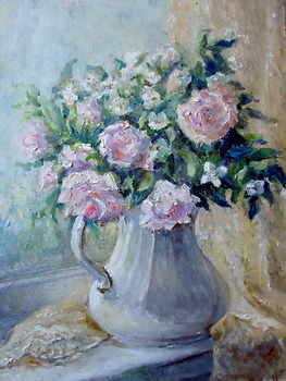 26 Роза ругоза, 2015, холст масло, 40х30