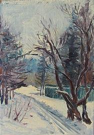44 Лыжня за городом (Медведково), 1974,