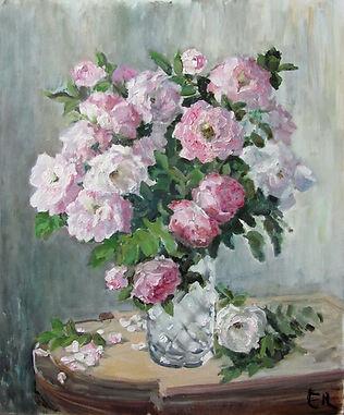 6 Букет роз на мраморном столике, 2016,