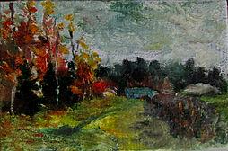 39 Осенний ветер, 2014, холст масло, 10х