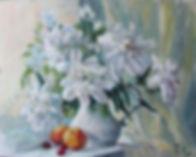 18 Пионы и персики, 2016, холст масло, 4