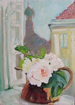*Окно в Вену. Розы, 2020, холст масло, 35х25