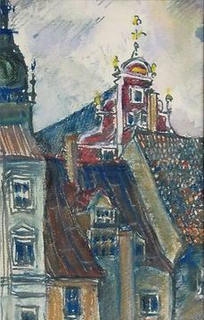 5 Пасмурный день (Рига), 1977, бумага ак