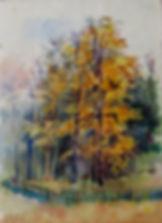 Отдых (Софрино), 1975, бумага акварель, 20х15