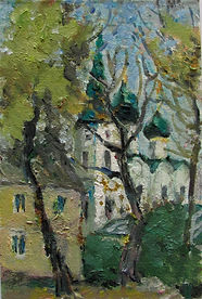 49 Церковь на Солянке, 2008, картон масл