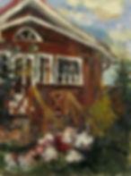 25 Дом в Соснах, 2011, холст масло, 24х1