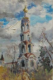48 Авдотьинская звонница, 2010,картон ма